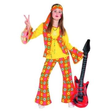 Hippie Girl : Oberteil, Hose und Kopfband - 1