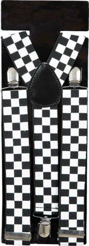 Hosenträger: Bundhalter, schwarz-weiß kariert - 1
