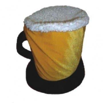 Hut: Bierkrug-Hut, gelb-weiß - 2