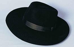 """Hut, """"Bogart"""", schwarz, Wolle, Kopfweite 58 - 1"""