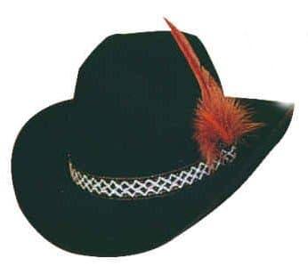 Hut: Cowboy-Hut, mit Feder, schwarz, Kopfweite 59 - 1