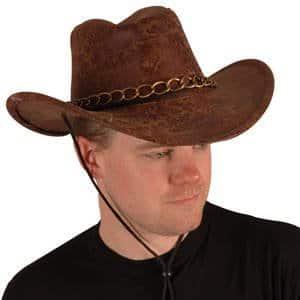 "Hut: Cowboyhut ""Bill"", Lederoptik, braun, Kopfweite 59 - 1"