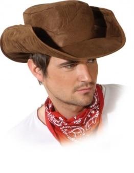 "Hut: Cowboyhut ""Dallas"", Lederoptik, biegsame Krempe, braun, Kopfweite 59 - 1"