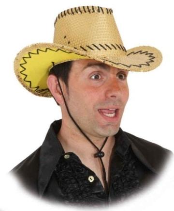 Hut: Cowboyhut, Pailletten, gold - 1