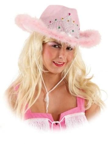 """Hut: Cowboyhut """"Princess"""" mit Schmuck, pink, Kopfweite 58 - 1"""