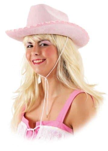 Hut: Cowboyhut, Samt, pink, Kopfweite 58 - 1