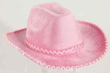 Hut: Cowboyhut, Samt, pink, Kopfweite 58 - 2
