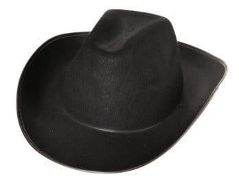 Hut: Cowboyhut, schwarz, Einheitsgröße - 1