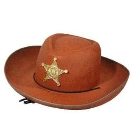 Hut: Cowboyhut, Sheriffstern, braun, Kindergröße - 1