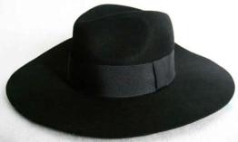 Hut: Gangster-Hut, mit Hutband, schwarz, Kopfweite 57, 59 und 61 - 1