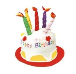 """Hut: Geburtstagshut mit Schriftzug """"Happy Birthday"""" - 1"""