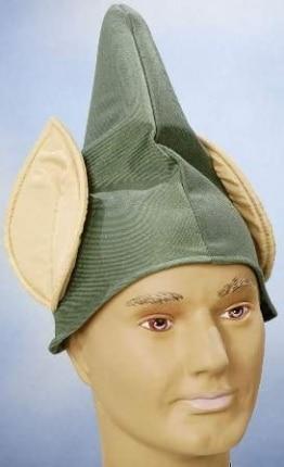 Hut: Koboldmütze, grün, mit Ohren - 1