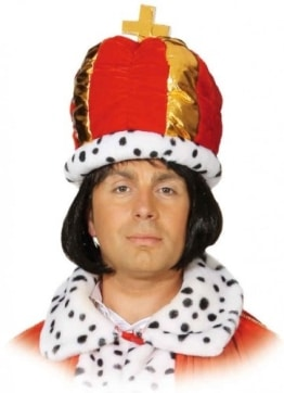 Hut: Königsmütze, rot, Einheitsgröße - 1