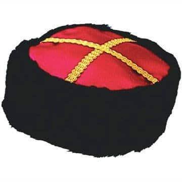 Hut: Kosakenhut, rot und braun, verziert - 1