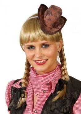 Hut: Mini-Hut, Cowboyhut, braun - 1