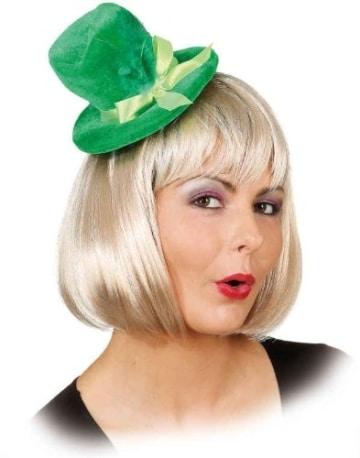 """Hut: Mini-Hut """"Jolie"""", mit Federn, grün - 1"""