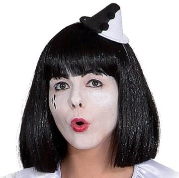 Hut: Mini-Hut, Pierro, schwarz-weiß - 1