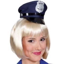 Hut: Mini-Hut, Polizei, blau - 1
