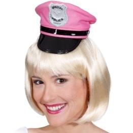 Hut: Mini-Hut, Polizei, pink - 1