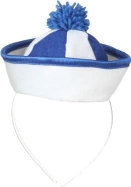 """Hut: Mini-Hut """"Sailor"""", weiß-blau - 1"""