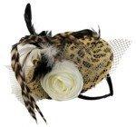Hut: Mini-Hut, Tiger, mit Feder, Blüte und Netz - 2
