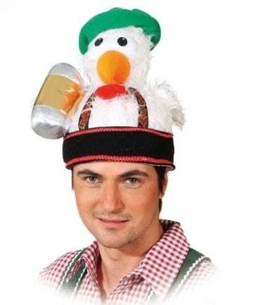Hut, mit lustiger Vogelfigur - 1