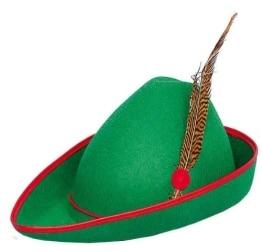 Hut: Robin-Hood-Hut, grün, mit Feder - 1