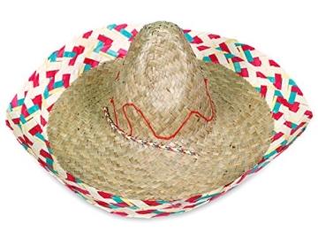 Hut: Sombrero, Stroh, bunter Rand - 1