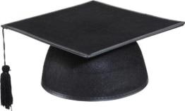 Hut: Sponsionshut Studentenkappe, schwarz, deluxe - 1
