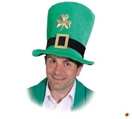 Hut: St. Patrick's Day Hut, mit Kleeblatt und Schnalle, grün, Einheitsgröße - 1