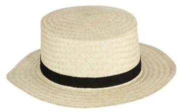 """Hut: Strohhut """"Kreissäge"""", Deluxe-Artikel, elastisches Hutband, Kopfweite 56 – 61 - 1"""