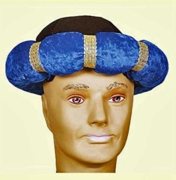Hut: Turban, blau - 1