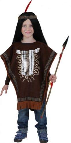 Indianer-Kostüm: Poncho, Einheitsgröße für Kinder - 1