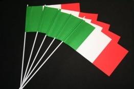 Italien-Fahne: Papierfähnchen, 50er-Pack - 1