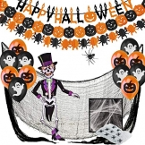 Jonami Halloween Deko Set XXL Spinnen, Kürbisse, Luftballons und mehr 1
