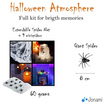 Jonami Halloween Deko Set XXL Spinnen, Kürbisse, Luftballons und mehr 2