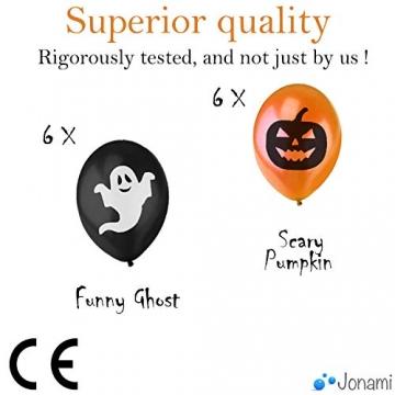 Jonami Halloween Deko Set XXL Spinnen, Kürbisse, Luftballons und mehr 7