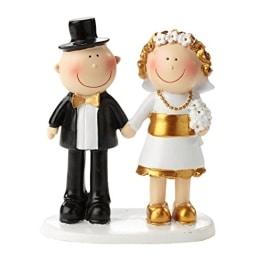 Jubiläumspaar: Figur für die Goldene Hochzeit, 85 mm, Polyresin - 1