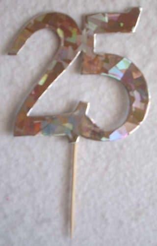 Jubiläumszahl 25, 8 cm hoch, mit Picker - 1