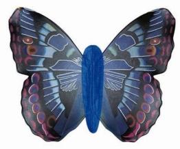 Jumbo Schmetterlingsflügel, blau - 1