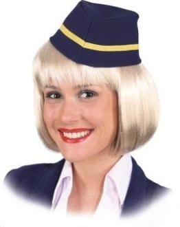 Kappe: Flugbegleiterin-Hut, Einheitsgröße - 1