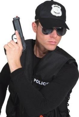 Kappe: Polizei-Basecap, schwarz, Einheitsgröße - 1