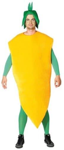 Karotten-Kostüm: Karotten-Overall mit Kopfbedeckung, Einheitsgröße - 1