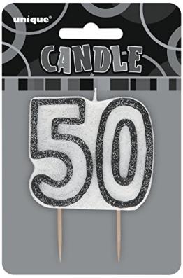 Kerze: Deko-Kerze, Zahl 50, 7 cm - 1