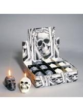 Kerzen: Totenkopfkerzen, ca. 60 x 35 mm, 3 Stück - 1