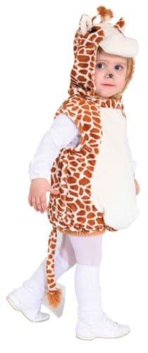 Kinderkostüm: Giraffe, Weste mit Kapuze, Plüsch, Größe 104 - 1
