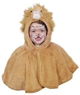 Kinderkostüm: Löwe, Cape, Plüsch, braun, Größe 104 - 1