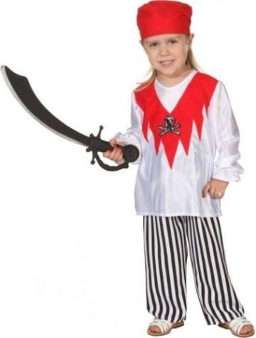 Kinderkostüm: Pirat, Oberteil, Hose, Tuch, Größen 140 und 152 - 1