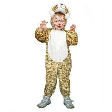 Kinderkostüm: Tiger-Overall mit Raubkatzenprint - 1