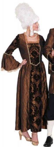 Kleid Barock-Dame braun - 1